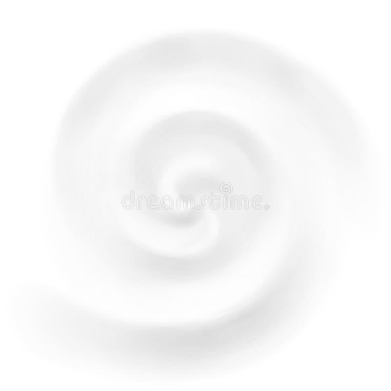 Διανυσματικό υπόβαθρο στροβίλου κρέμας, γιαουρτιού ή γάλακτος ελεύθερη απεικόνιση δικαιώματος