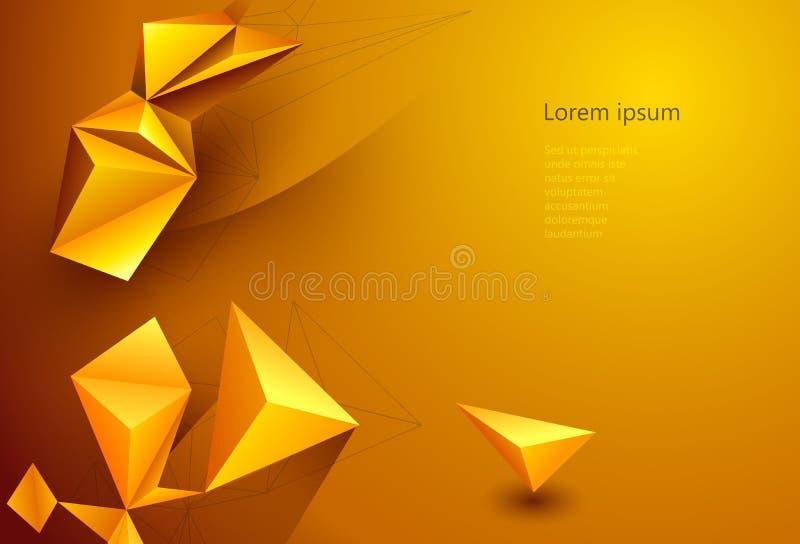 Διανυσματικό υπόβαθρο τεχνολογίας απεικόνισης polygonal για το έμβλημα, πρότυπο, ταπετσαρία, σχέδιο Ιστού ελεύθερη απεικόνιση δικαιώματος