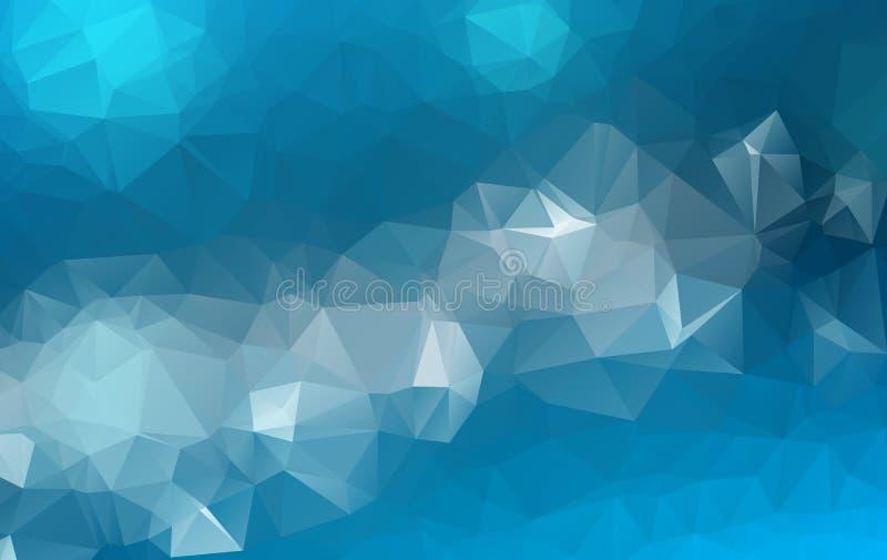 Διανυσματικό υπόβαθρο τριγώνων πολυγώνων αφηρημένο σύγχρονο Polygonal γεωμετρικό Μπλε γεωμετρικό υπόβαθρο τριγώνων ελεύθερη απεικόνιση δικαιώματος