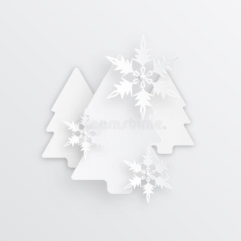 Διανυσματικό υπόβαθρο Χριστουγέννων απεικόνισης αφηρημένο με snowflakes Σχέδιο τέχνης χειμερινού εγγράφου νέο έτος Χριστουγέννων  απεικόνιση αποθεμάτων