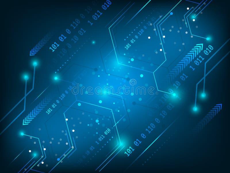 Διανυσματικό υψηλής τεχνολογίας κυκλωμάτων υπόβαθρο τεχνολογίας πινάκων αφηρημένο ψηφιακό απεικόνιση αποθεμάτων