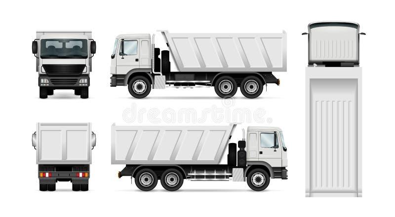 Διανυσματικό φορτηγό απορρίψεων διανυσματική απεικόνιση