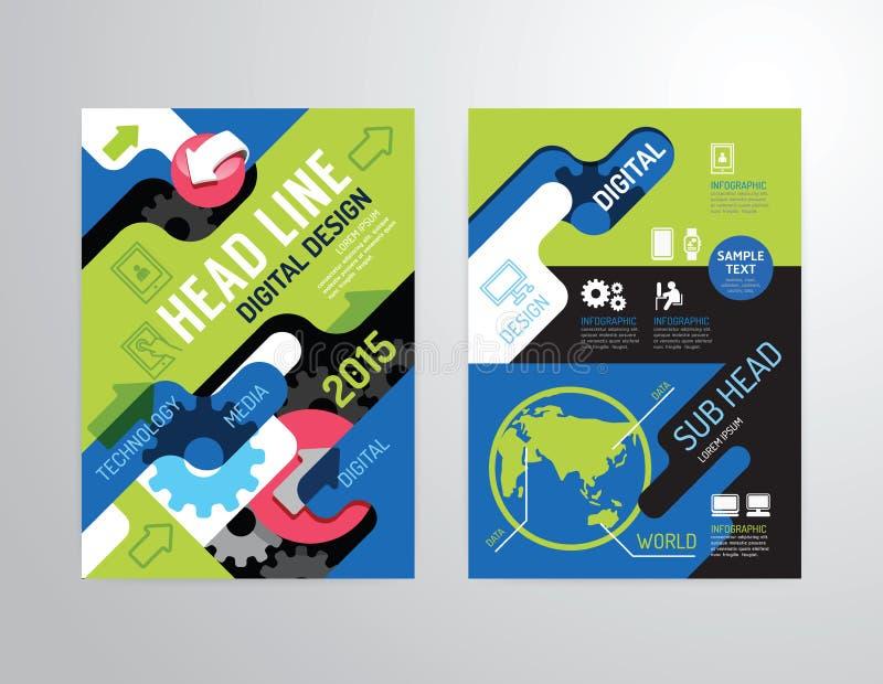 Διανυσματικό φυλλάδιο, ιπτάμενο, σχέδιο αφισών βιβλιάριων κάλυψης περιοδικών ελεύθερη απεικόνιση δικαιώματος