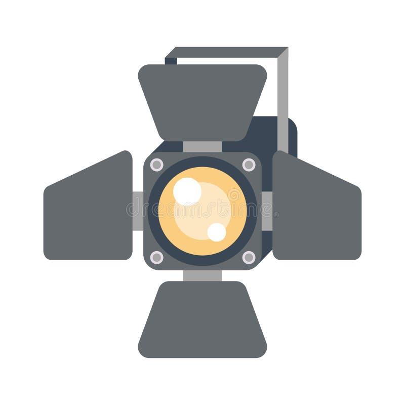 Διανυσματικό φως σκηνής διανυσματική απεικόνιση