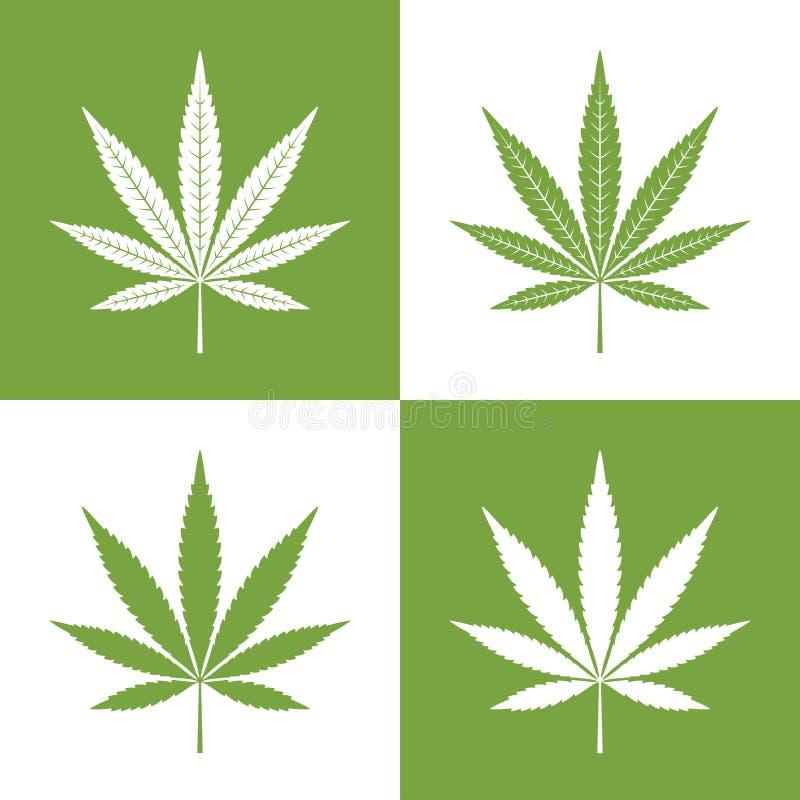 Διανυσματικό φύλλο της μαριχουάνα ελεύθερη απεικόνιση δικαιώματος