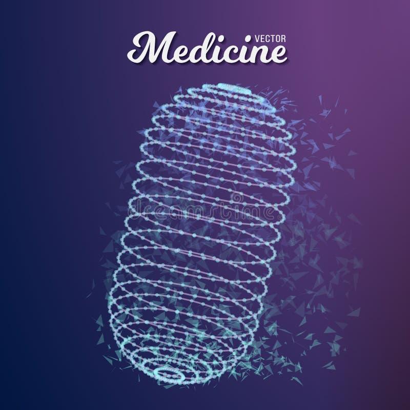 Διανυσματικό χάπι ιατρικής απεικόνιση αποθεμάτων