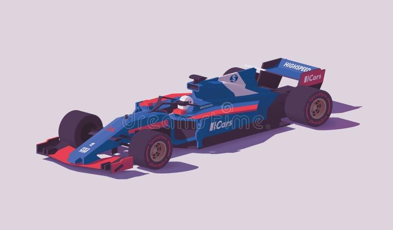 Διανυσματικό χαμηλό πολυ αγωνιστικό αυτοκίνητο τύπου απεικόνιση αποθεμάτων