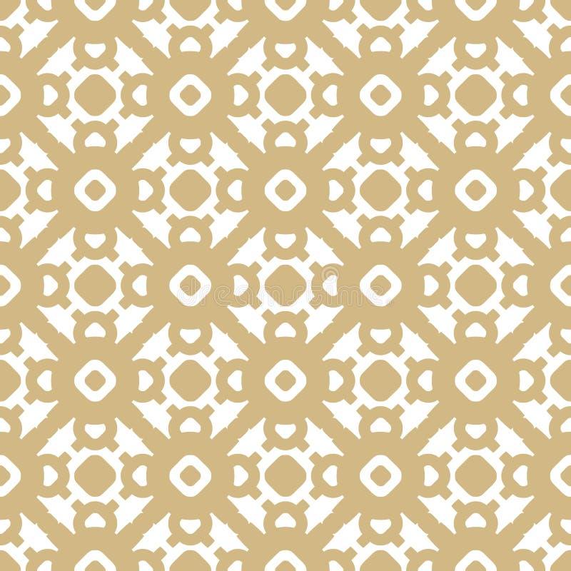 Διανυσματικό χρυσό άνευ ραφής σχέδιο στο ασιατικό ύφος Διακοσμητική σύσταση πολυτέλειας διανυσματική απεικόνιση