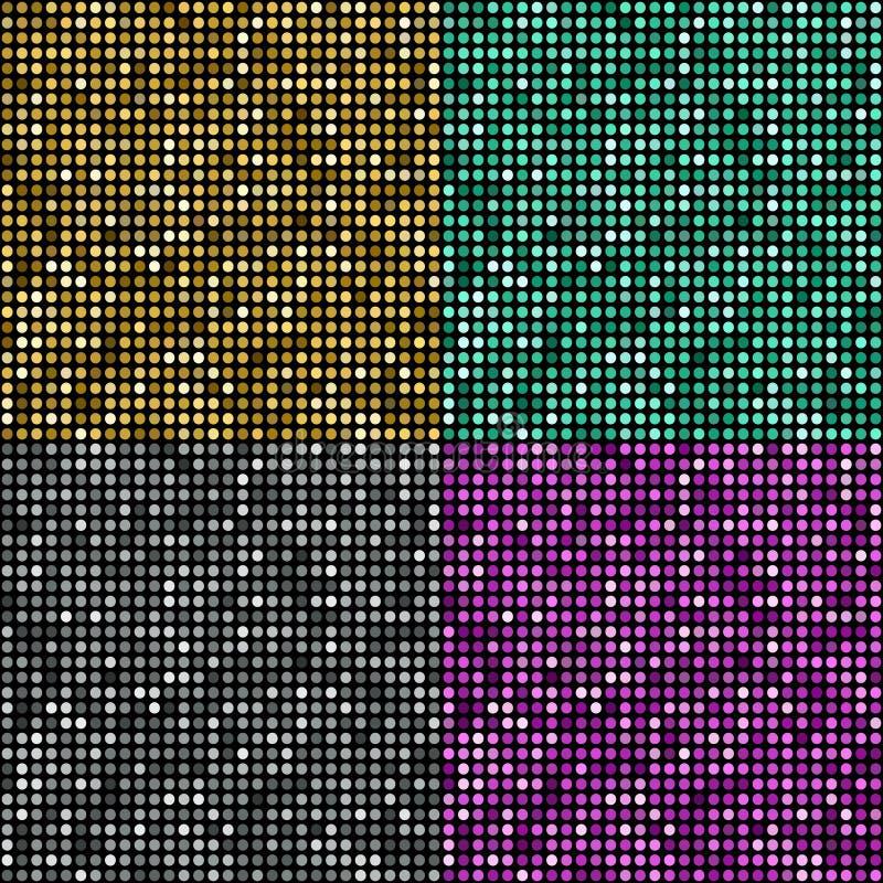 Διανυσματικό χρυσό υπόβαθρο μωσαϊκών διανυσματική απεικόνιση
