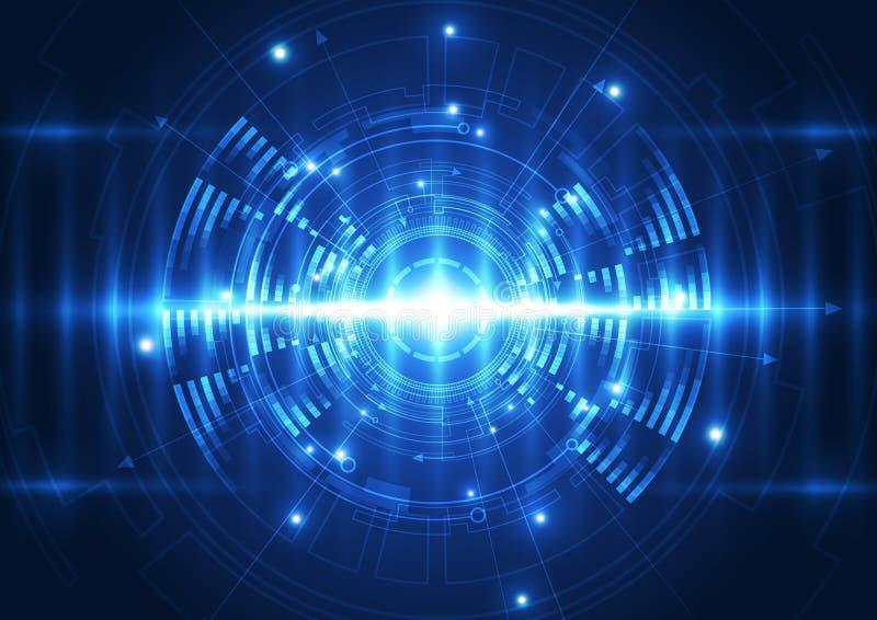 Διανυσματικό ψηφιακό μελλοντικό, αφηρημένο υπόβαθρο τεχνολογίας κυμάτων διανυσματική απεικόνιση