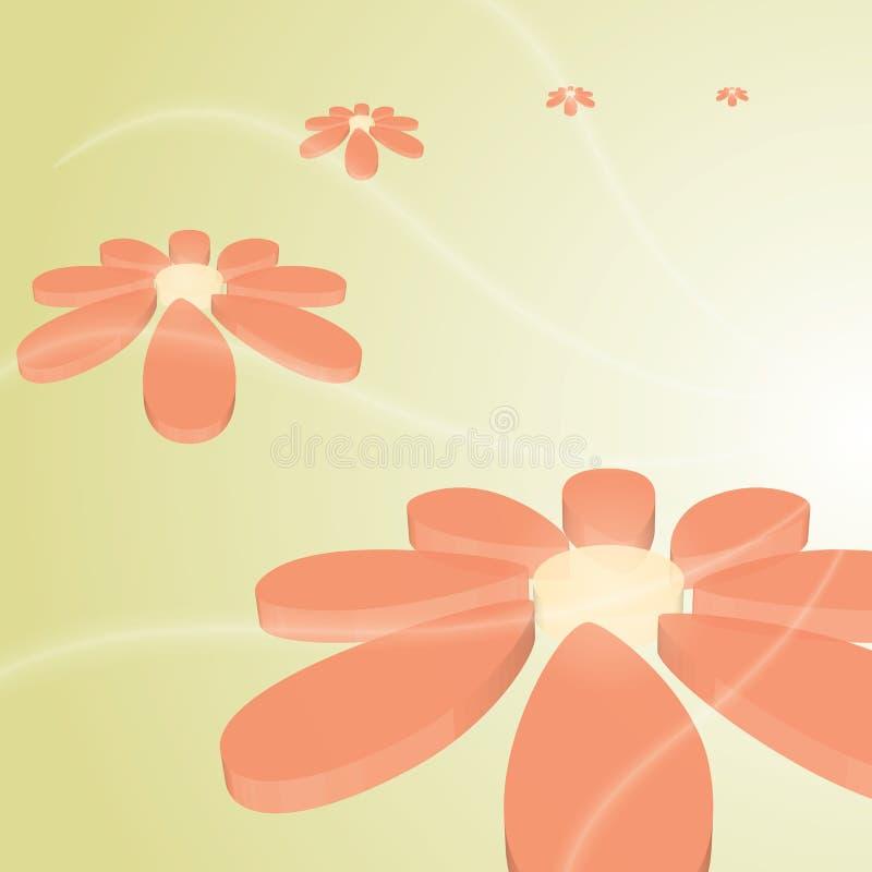 Διανυσματικό όμορφο λουλούδι υψηλής τεχνολογίας απεικόνιση αποθεμάτων
