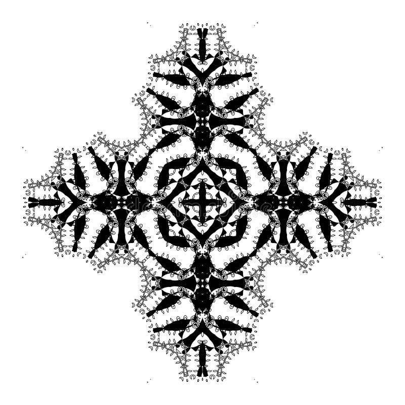 Διανυσματικό όμορφο Deco μαύρο Mandala διανυσματική απεικόνιση