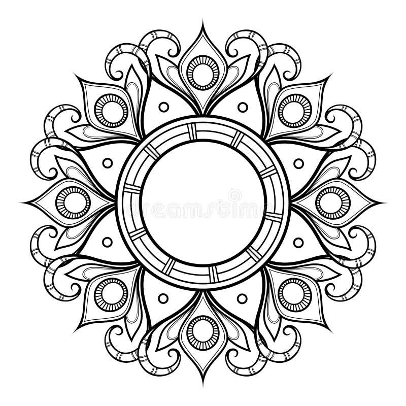 Διανυσματικό όμορφο Deco Mandala απεικόνιση αποθεμάτων