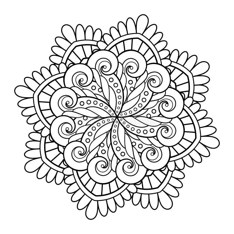 Διανυσματικό όμορφο Deco Mandala διανυσματική απεικόνιση