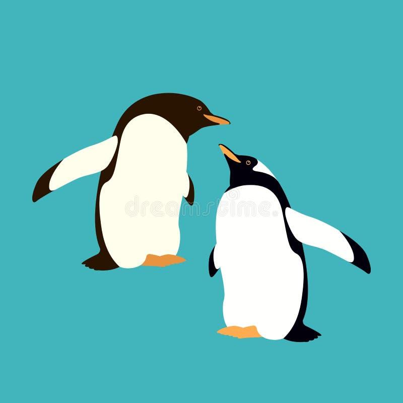 Διανυσματικό ύφος απεικόνισης Penguin επίπεδο ελεύθερη απεικόνιση δικαιώματος
