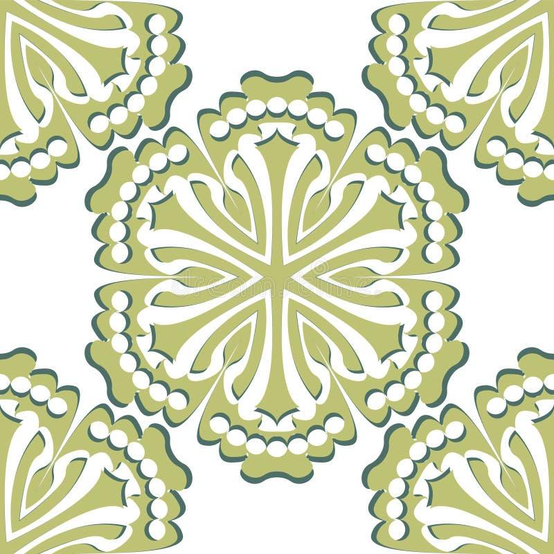 Διανυσματικό damask άνευ ραφής στοιχείο σχεδίων απεικόνιση αποθεμάτων