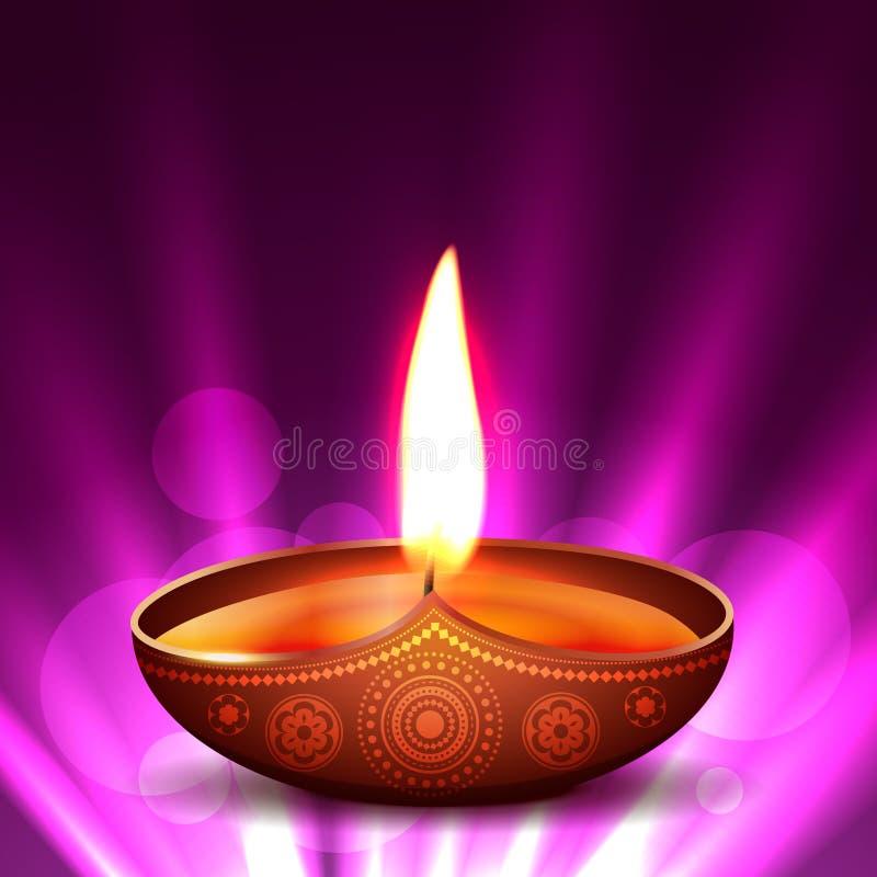 Διανυσματικό diya diwali διανυσματική απεικόνιση