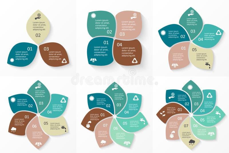Διανυσματικό eco κύκλων infographic απεικόνιση αποθεμάτων