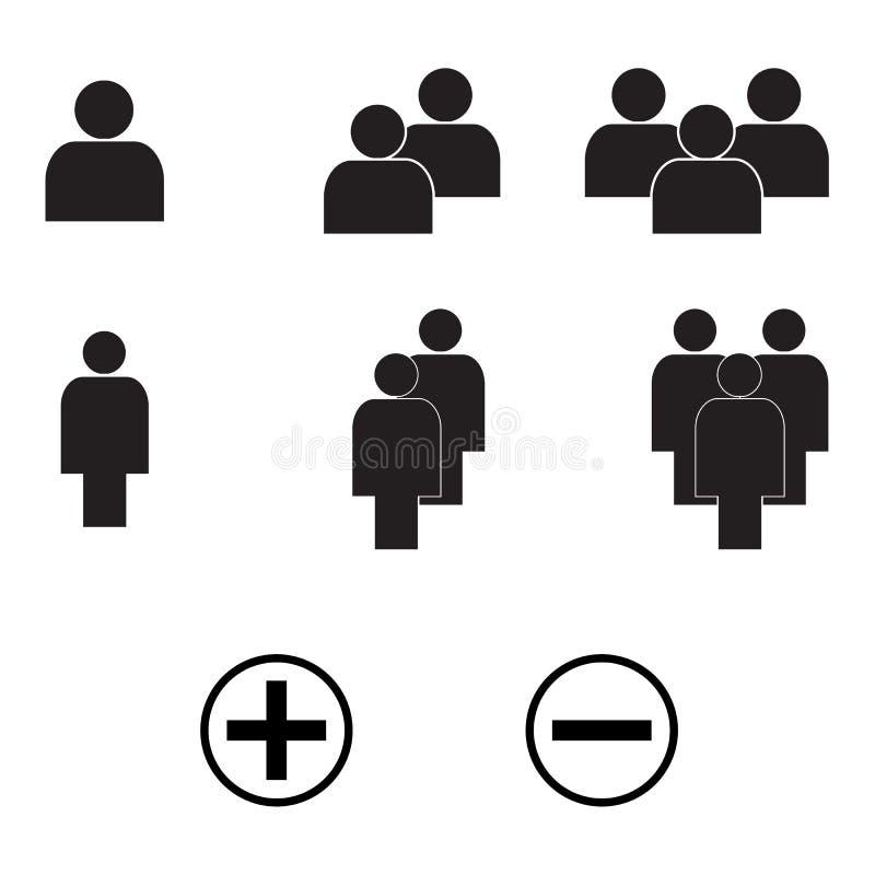 Διανυσματικό Eps10 ύφους ανθρώπων ελάχιστο σύνολο εικονιδίων απεικόνιση αποθεμάτων