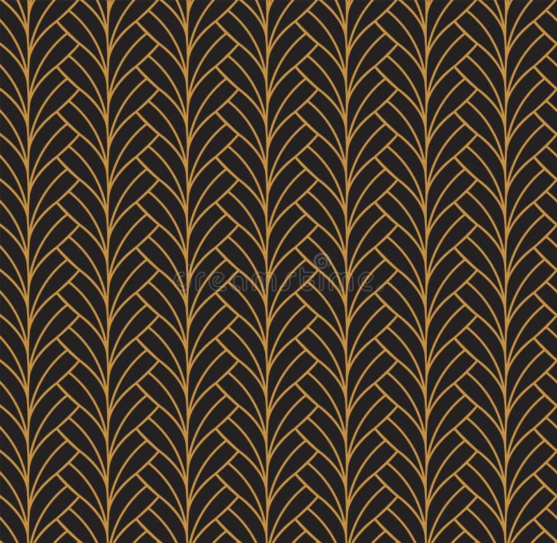 Διανυσματικό floral αφηρημένο άνευ ραφής σχέδιο Γεωμετρική σύσταση λωρίδων ελεύθερη απεικόνιση δικαιώματος