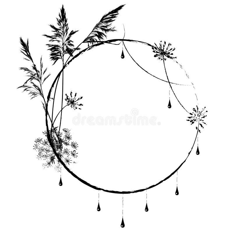 Διανυσματικό floral πλαίσιο απεικόνιση αποθεμάτων