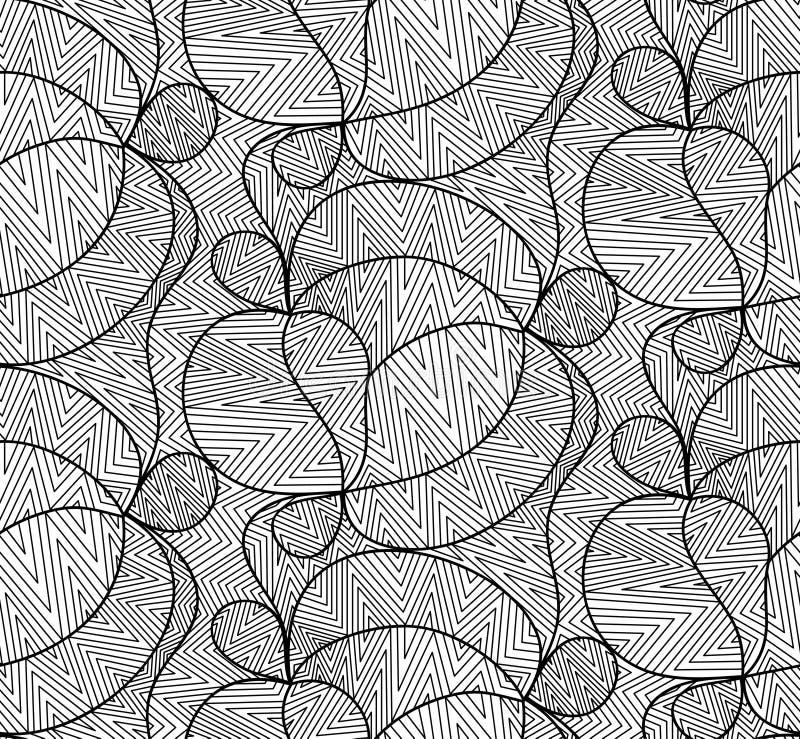 Διανυσματικό floral υπόβαθρο των συρμένων γραμμών απεικόνιση αποθεμάτων