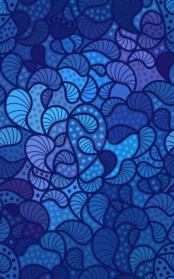 Διανυσματικό floral υπόβαθρο των συρμένων γραμμών διανυσματική απεικόνιση