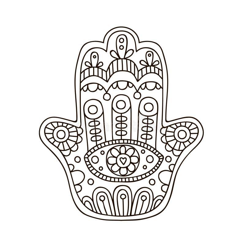 Διανυσματικό hamsa doodle ελεύθερη απεικόνιση δικαιώματος