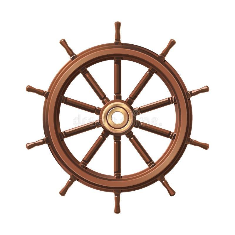 Διανυσματικό handwheel βαρκών, τιμόνι ροδών σκαφών διανυσματική απεικόνιση