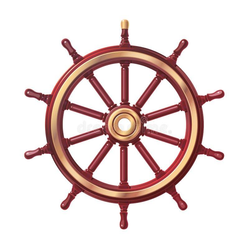 Διανυσματικό handwheel βαρκών, τιμόνι ροδών σκαφών απεικόνιση αποθεμάτων