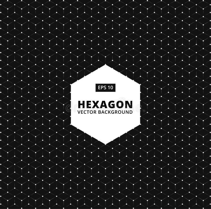 Διανυσματικό hexagon άνευ ραφής σχέδιο σύγχρονη μοντέρνη σύσταση συνδέστε απεικόνιση αποθεμάτων
