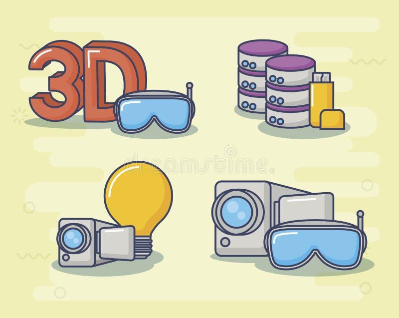 Διανυσματικό ilustration εικονιδίων σχεδίου τεχνολογίας και καινοτομίας ελεύθερη απεικόνιση δικαιώματος