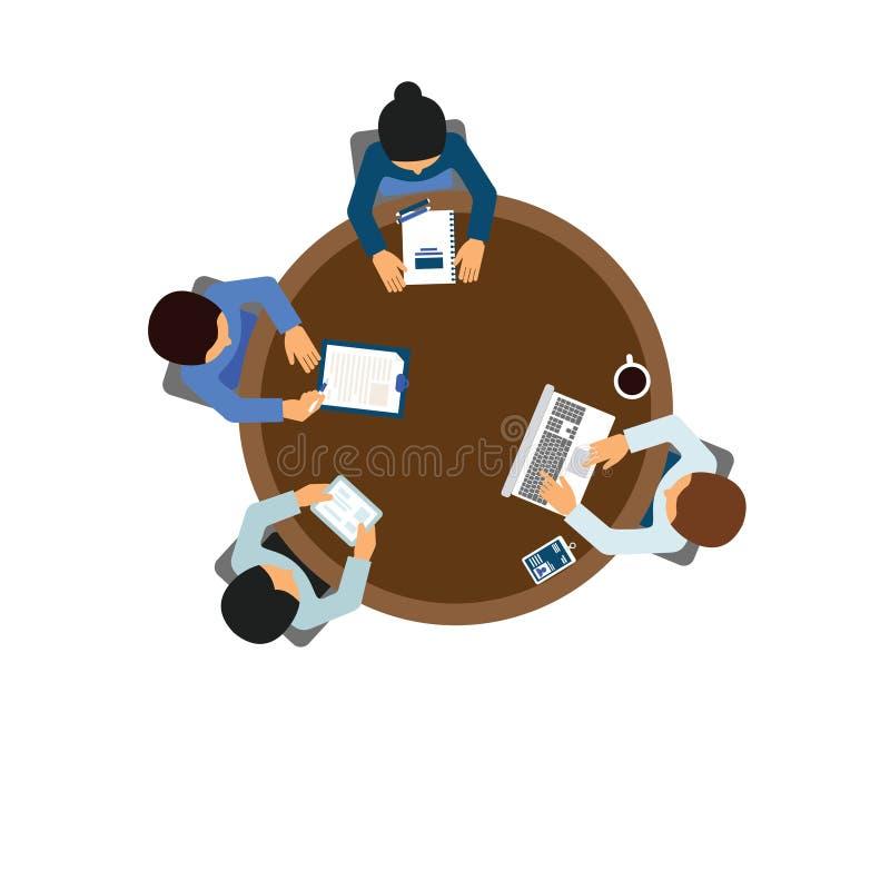 διανυσματικό ilustration εργαζομένων ατόμων χαρακτήρα ελεύθερη απεικόνιση δικαιώματος