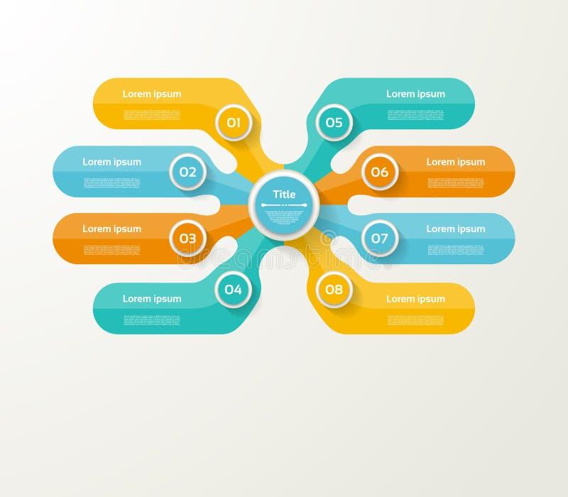 Διανυσματικό infographic πρότυπο για το διάγραμμα, γραφική παράσταση, παρουσίαση και διανυσματική απεικόνιση