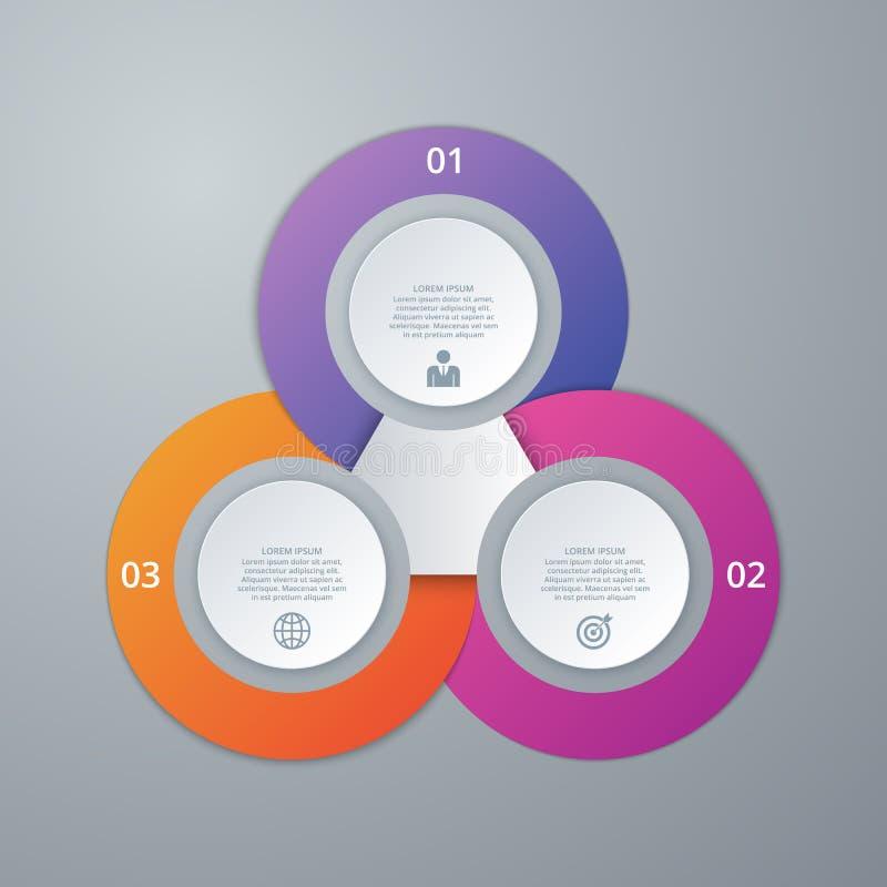 Διανυσματικό infographics απεικόνισης τρεις επιλογές ελεύθερη απεικόνιση δικαιώματος