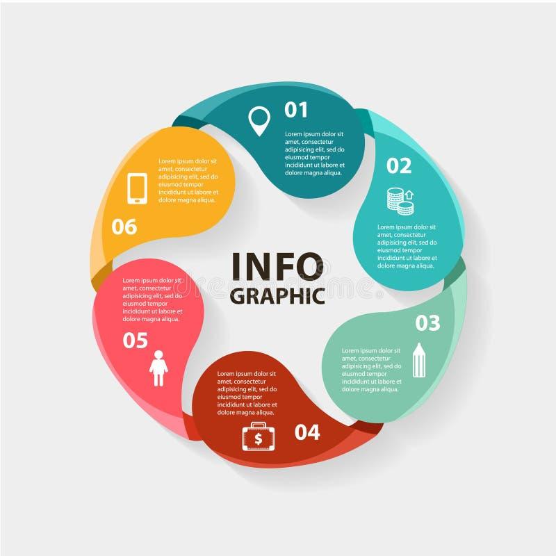 Διανυσματικό infographics κύκλων Πρότυπο για το διάγραμμα διανυσματική απεικόνιση
