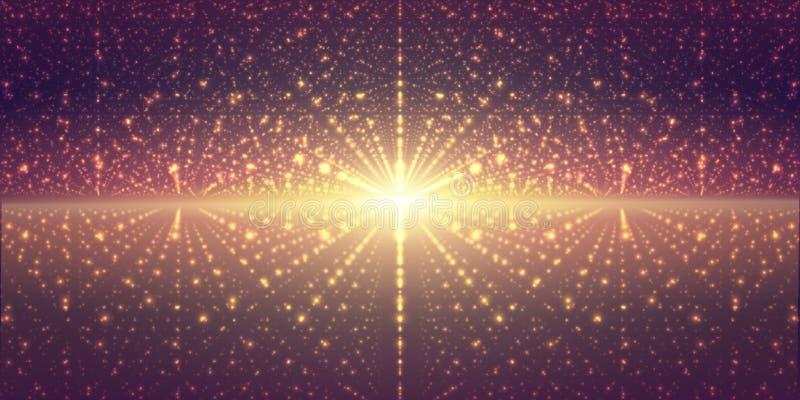 Διανυσματικό interstellar διαστημικό υπόβαθρο Κοσμική απεικόνιση γαλαξιών Υπόβαθρο με το νεφέλωμα, τη αίσθηση μαγείας και φωτεινό διανυσματική απεικόνιση