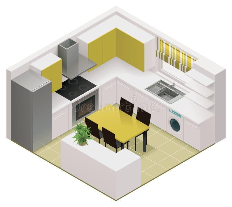 Διανυσματικό isometric εικονίδιο κουζινών ελεύθερη απεικόνιση δικαιώματος