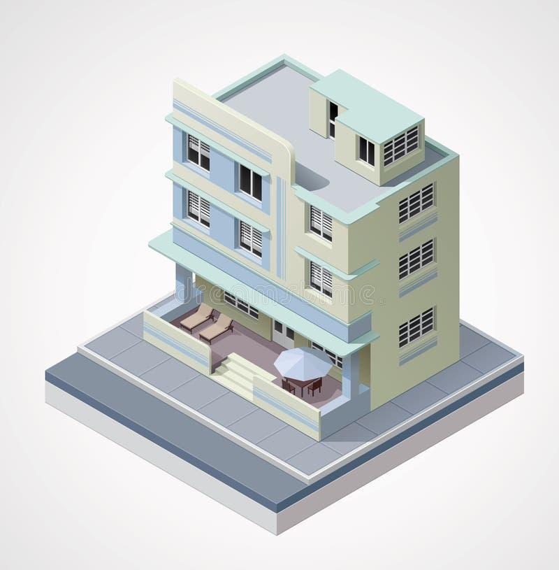 Διανυσματικό isometric κτήριο διανυσματική απεικόνιση