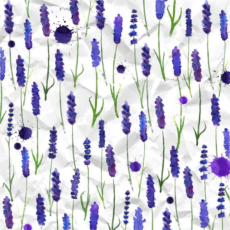 Διανυσματικό lavender watercolor υπόβαθρο ελεύθερη απεικόνιση δικαιώματος