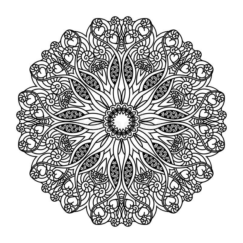 Διανυσματικό mandala Εθνικά διακοσμητικά στοιχεία συρμένο χέρι διανυσματική απεικόνιση