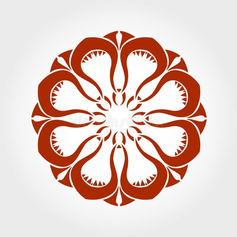 Διανυσματικό mandala στοκ εικόνα