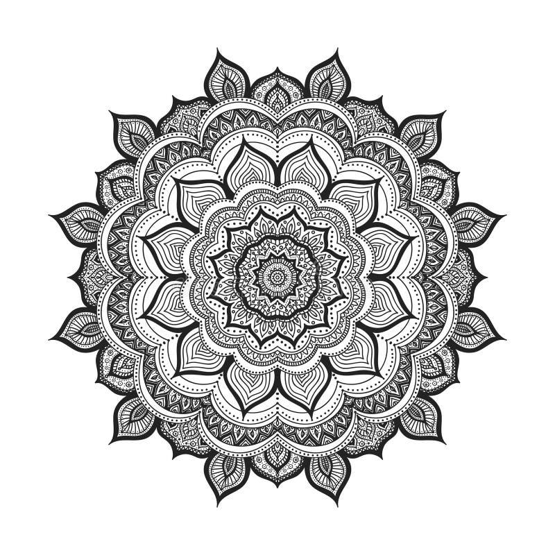 Διανυσματικό mandala Doodle απεικόνιση αποθεμάτων