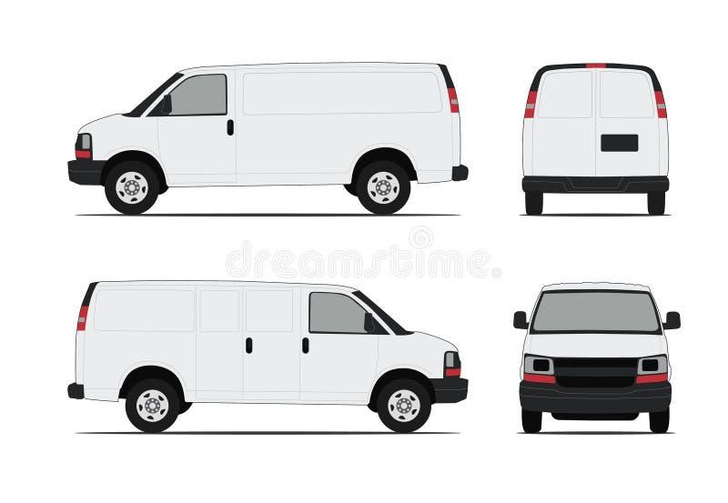 Διανυσματικό Minivan στοκ φωτογραφίες με δικαίωμα ελεύθερης χρήσης