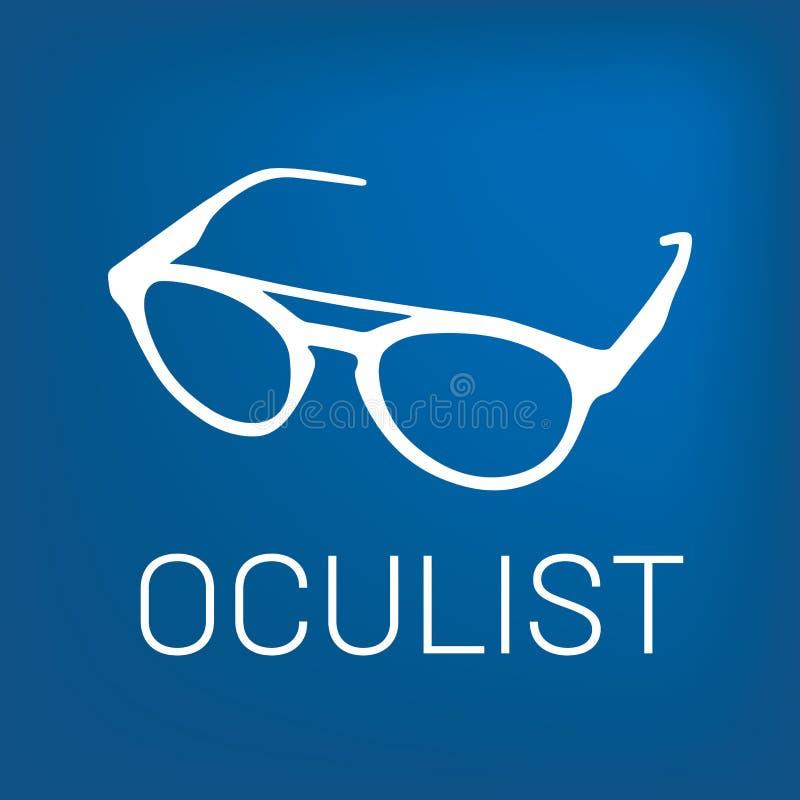 Διανυσματικό optometrist λογότυπων, οπτική και έλεγχος οράματος απεικόνιση αποθεμάτων