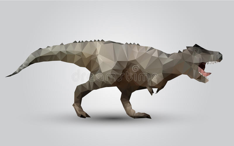 Διανυσματικό polygonal πρότυπο τριγώνων δεινοσαύρων τυποποιημένο απεικόνιση αποθεμάτων