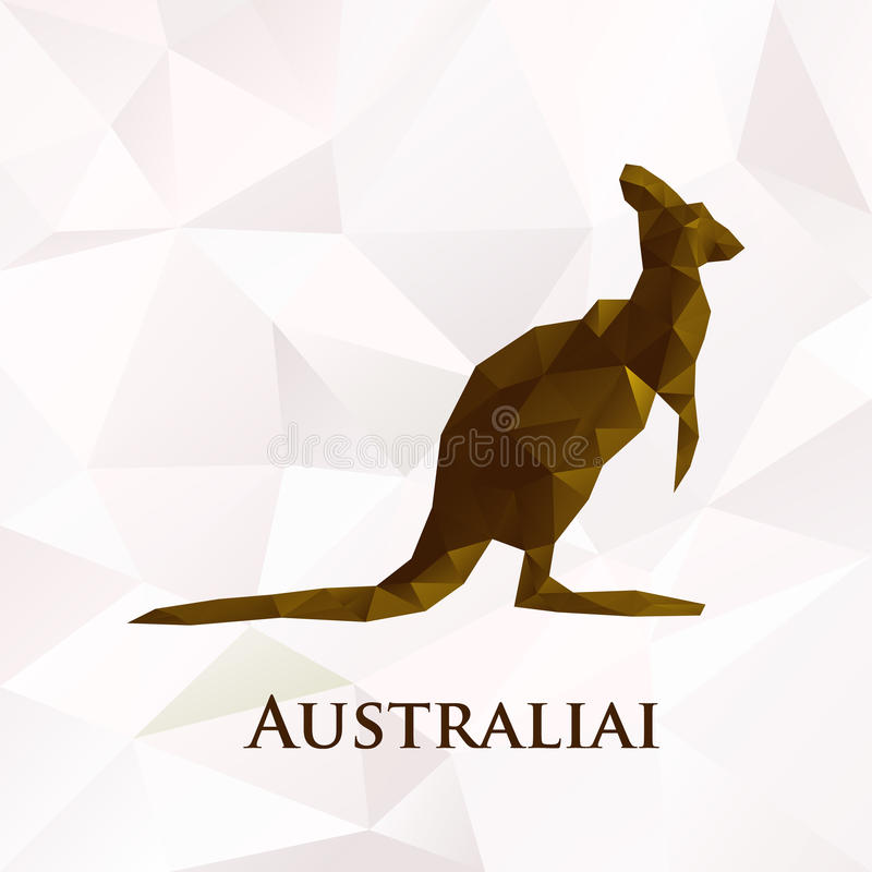 Διανυσματικό polygonal σύμβολο καγκουρό της Αυστραλίας απεικόνιση αποθεμάτων
