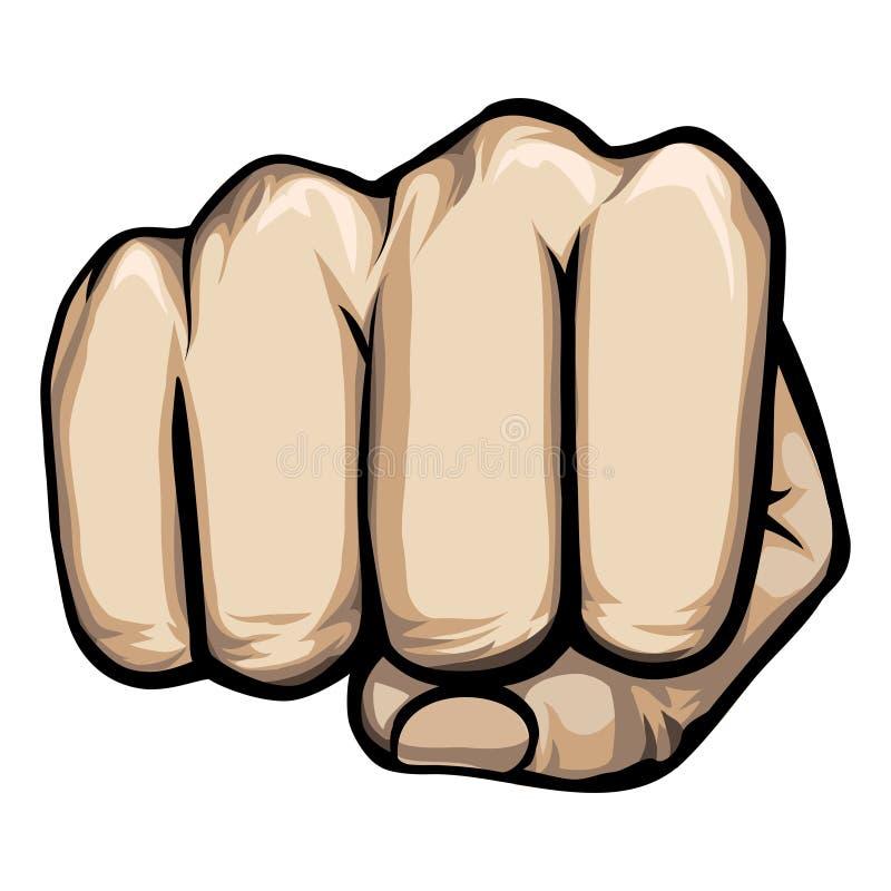 Διανυσματικό punching χέρι διανυσματική απεικόνιση