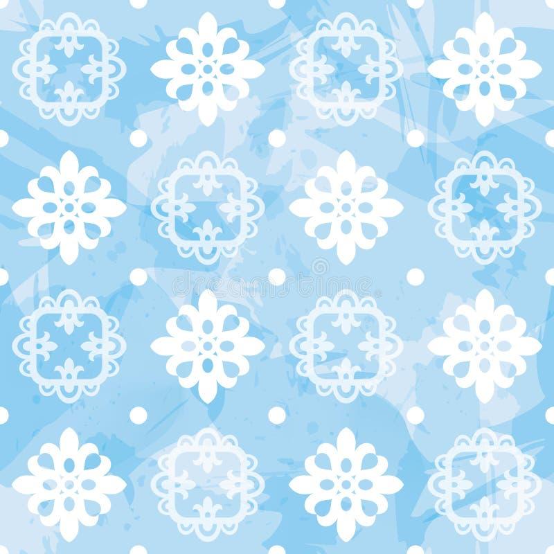 Διανυσματικό Snowflake άνευ ραφής σχέδιο διανυσματική απεικόνιση