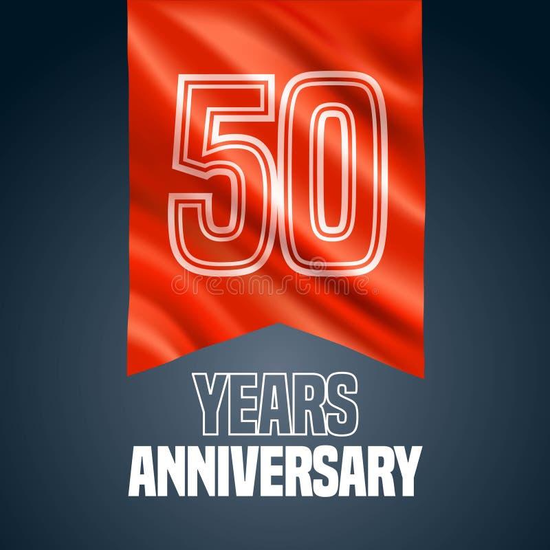 50 διανυσματικών έτη εικονιδίων επετείου, λογότυπο ελεύθερη απεικόνιση δικαιώματος